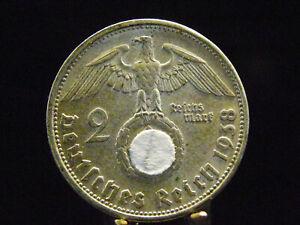 - M.F.B - Dt. Reich 3.Reich - 2 Reichsmark 1938 B - in ss / vz   1