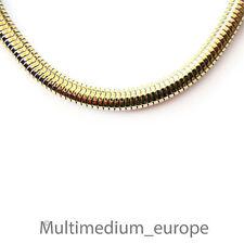 Snake-Halskette Pierre Lang stark vergoldet signiert