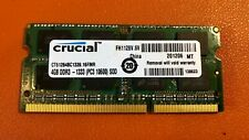 Crucial 4 GB SO-DIMM 1333 MHz PC3-10600 DDR3 Memory (CT51264BC1339)