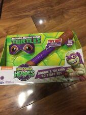 NUOVO con scatola Ninja Turtle Mezzo Guscio Eroi Donnie sta parlando BO personale Set