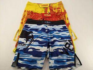 "Lot of 3 Venum Muay Thai Shorts - Yellow/Red/Blue - Size: 33 - Medium - 10"""