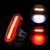 Bike Bicycle Cycling USB Rechargeable Front Rear Light 4/6 Modes LED Tail Lamp B