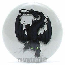 "How To Train Your Dragon Toothless on the Prowl 1.25"" Button ~ Licensed ~ NEW"