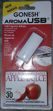 """GONESH brand USB aroma stick diffuser with 30 refills """"sweet apple"""" scent NEW!"""