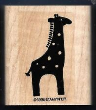 GIRAFFE DOTS Wildlife Animal Art Safari Stampin Up! 1996 wood mount RUBBER STAMP