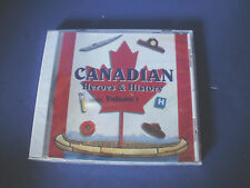 CANADIAN HEROES & HISTORY CD~Volume 1~History Stories~New & Sealed