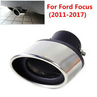 63mm Silver Car Exhaust Muffler Tip Tail Pipe End Trim for Ford Focus 2011-2017