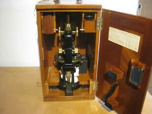 Wunderschönes altes Reisemikroskop Mikroskop Carl Zeiss Jena Nr. 64599