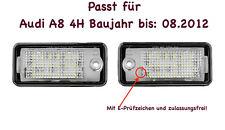 2x TOP LED SMD Kennzeichenbeleuchtung für Audi A8 4H Baujahr bis: 08.2012 /CB/