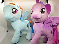 My Little Pony Rainbow Dash & Purple Unicorn Twilight Sparkle Plush (2) MLP Lot
