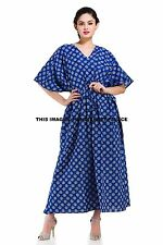 Long Indian Kaftan Plus Size Women Dress Caftan Hippie Casual Beach Casual Dress