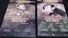 The Adventures of Sherlock Holmes - Vol. 1 & 2 (DVD, 2004) Ronald Howard