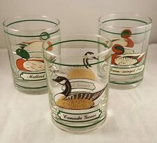 Georges Briard Printed Duck Glasses - Set of three