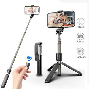 Telescopic Monopod Tripod Remote Shutter 360°Selfie Stick For Mobile Phone Stand