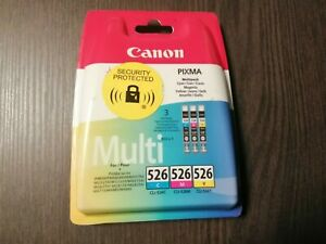 Original Canon Pixma Ink Cartridges Multi Set of Colours 526C 526M 526Y