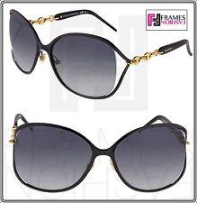 GUCCI CHAIN GG4250S Black Rose Gold Oversized Sunglasses Gradient F0GVK 4250