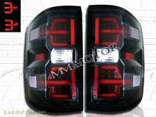 Black LED Tail lights for 2014-2016 Chevy Silverado 1500 2015-2016 2500HD 3500HD