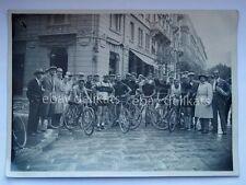 Vecchia foto TRIESTE ciclismo bici 2 Caffè San Marco vintage cycling eroica phot