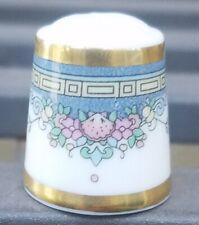 Royal Doulton England Thimble Gold Trim Fine China. Floral Design