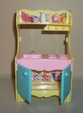 Barbie Doll Furniture - Kelly Playroom Play Kitchen - 2002 Mattel