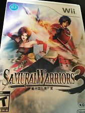 Samurai Warriors 3 (Nintendo Wii, 2010) Complete FAST SHIPPING