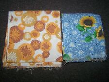 New listing Lot Of 2 Vintage Feed Sack Feedsack Fabric Pieces 1 Full Sack