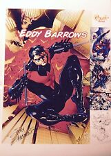 NIGHTWING, SUPERMAN & more!  PRINT by EDDY BARROWS - SIGNED!
