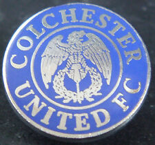 COLCHESTER UNITED FC Vintage Club crest badge Maker WO LEWIS Brooch pin 20mm Dia