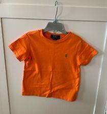 Polo Ralph Lauren Orange T-Shirt Toddler Boy 2T Shirt Top