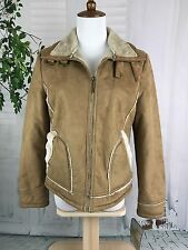 L.e.i. Outwear Faux Suede Plush Lined Jacket Women's Size Medium NWT