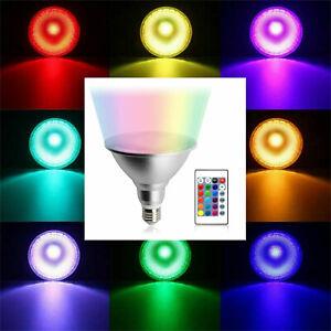 Dimmable RGB PAR30 PAR38 E27 10W 20W LED Spotlight Bulb Flood Lamp + Remote RD