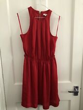New Look Red Dress Size 10 Satin Look Christmas Party Dress