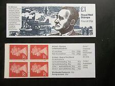 Fh38a World War 2 Mitchell Spitfire £1 Machin Machine Stamp Booklet Blue Phos