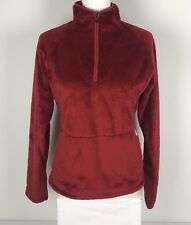 The North Face Womens Small Jacket Mossbud Fleece 1/4 Zip Red EUC