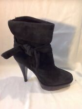 French Connection Dark Grey Ankle Suede Boots Size 37