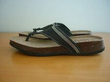 WOMEN'S CLASSIC OUTDOOR MYALL BROWN SUEDE LEATHER SLIDES SANDALS SIZE AU10 -NWOT