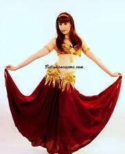 Professional Bellydance Belly Dance Bellydancing Red Skirt