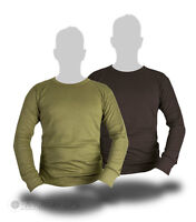 THERMAL LONG SLEEVED TOP BASE LAYER WICKING MILITARY BLACK OLIVE GREEN ARMY