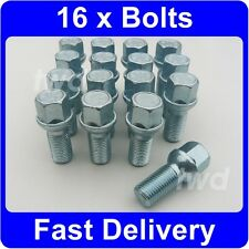 16 x ALLOY WHEEL BOLTS FOR MERCEDES BENZ GL CLASS (2006+) X164 RADIUS NUTS [1S]