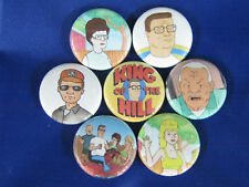 "King of the Hill 7 New 1"" button badges FOX MIKE JUDGE"