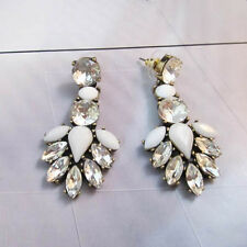 NEW * Signature Urban Anthropologie Spearie Ivory White Gemmed Earrings