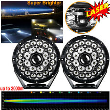 2PCS 8.5Inch 1280W Laser Projector High Output LED Spot Fog Lights Offroad Truck