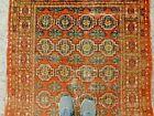 Antique Khotan Shabby Chic Memlinc Gul Oriental Rug 4x7 THIN WORN Vegetal Dyes