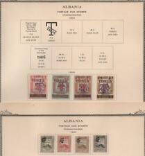 ALBANIA: 1914-1920 Postage Dues - Ex-Old Time Collection - 2 Part Pages (19022)