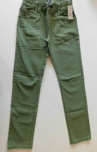 NWT Gap Casual Pull-On Denim Jeans Stretch Green Slim Leg Large NEW Free Ship