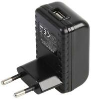 USB Power Supply 5V 2.1A Black Euro - Pel00394
