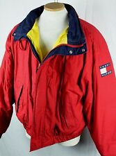 Vintage 1990's Tommy Hilfiger Red Sailing Jacket Insulated Down Filled Flag XL