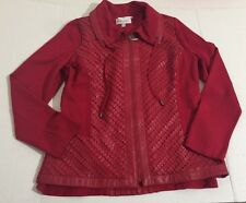 9762fe5884092 Drapers   Damons Red Jacket Tank Top Textured Size S M Casual Shirt Zip