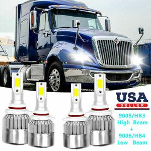 For International Truck Pro Star Prostar 2008-2016 LED Headlight Bulbs Kit 6000