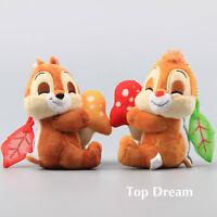 Cartoon Chip 'n' Dale Plush Keychain Soft Stuffed Animal Doll Toy 4'' Pendants